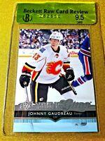 2014-15 JOHNNY GAUDREAU YOUNG GUNS BGS 9.5 GEM MINT ROOKIE #211 CLEAN SHARP