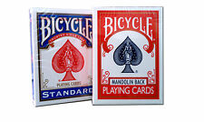 Lot 2 Bicycle Classics Blue 808 RI & Red Mandolin Back Deck Poker Playing Cards