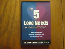 DR. GARY  ROSBERG  Signed Book(THE 5 LOVE NEEDS OF MEN AND WOMEN  First Edition)