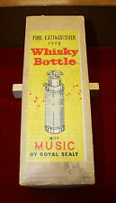 Vintage Royal Sealy Fire Extinguisher Whisky Bottle w/ Music Box
