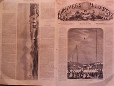 L' UNIVERS ILLUSTRE 1864  N 349  UN EXCERCICE PERILLEUX DU FUNNANBULE J. BLONDIN