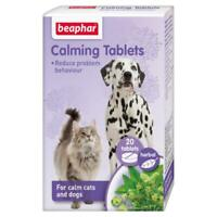 Beaphar Calming Tablets for Cats & Dogs 20's - Reduce stress, Anxiety Firework