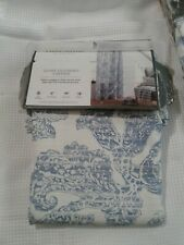 """Threshold Blue Paisley Floral Light Filtering 54"""" x 84"""" Panel New - Two"""
