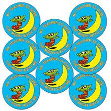 """""""Mon prof est sur la lune avec moi"""" Alien Récompense École Stickers 25 mm x 90"""