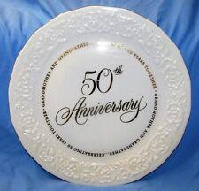 50TH ANNIVERSARY WEDDING PORCELAIN PLATE HALLMARK GRANDMOTHER GRANDFATHER