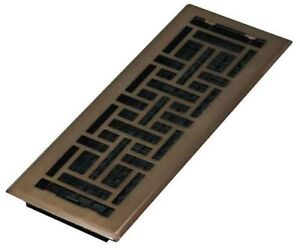 "DECOR GRATES AJH414-RB 4"" x 14"" Oriental Steel Plated Rubbed Bronze"