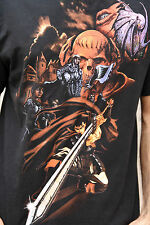 STEDMAN Knights SKULL T SHIRT BLACK COTTON GRAPHIC GHOTIC EMO L LARGE