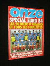 Magazine ONZE N° 102 1984 SPECIAL EURO 84 FRANCE LES 8 QUALIFIES + GUIDE TV