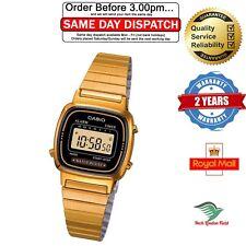 Reloj de Pulsera Casio Damas Negro/Oro Cuadrante Correa de banda de oro para mujeres Clásico Digital