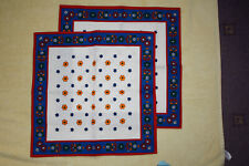 2 x floral coloured napkins retro vintage pattern dining room picnic