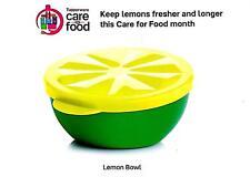 Tupperware Fun Lemon Bowl Food Storage Plastic Bowl with Lid Lime Keeper- NEW!