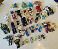 Vintage Mixed Lot Of Transforming 80s 90s Figures For Parts Or Repair