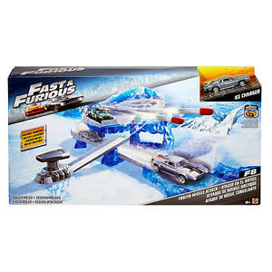 Fast & Furious Street Scenes Frozen Missile Attack Ice Charger Playset New!