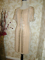 14 DRESS SOUTH VINTAGE 1920's NUDE DECO BEADED FLAPPER CHARLESTON GATSBY DOWNTON
