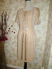 18 DRESS SOUTH VINTAGE 1920's NUDE DECO BEADED FLAPPER CHARLESTON GATSBY DOWNTON