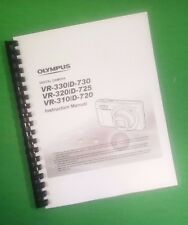 LASER 8.5X11 Olympus VR-320 D-725 Camera 76 Page Owners Manual Guide