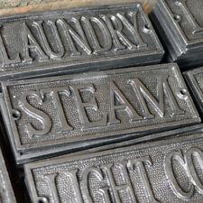 Door Plaque - Steam - Cast Metal - Door Sign - Cast Plaque - Steampunk Decor