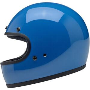 Biltwell Gringo DOT / ECE Motorcycle Helmet - Gloss Tahoe Blue - CHOOSE SIZE