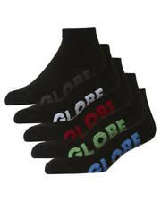 Globe Mens Socks 5 Pairs Black Stealth Ankle Large US 12 to 15