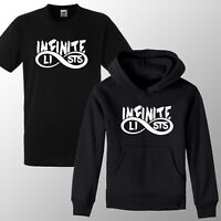 INFINITE LISTS Galaxy Logo Hoodie T shirt KIDS Boys girls  3-12 Years  Gifts Tee