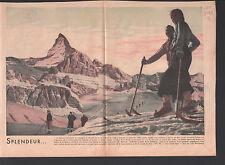 MONT CERVIN CERVINO  ALPES CITATION PIE XI ALPINISTE  ILLUSTRATION 1938