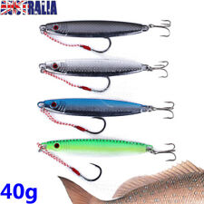 4x 40g Metal Slice Micro Jigs Fishing Lures Jig Bait Spoon Tackle Snapper Kingy