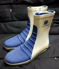 West Marine G/5 Competition Dinghy Rubber Waterproof Boots Mens 7 Lace Up Blue