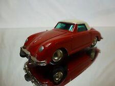 REPLICA SCHUCO MICRO RACER 1047 PORSCHE 356 - RED L10.5cm - SPIEL NUTZ- GERMANY