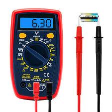 LCD Digital Voltmeter Ammeter Ohmmeter Multimeter Volt AC DC Tester Meter USA