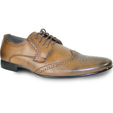BRAVO New Men Dress Shoes KLEIN-4 Oxford Fashion Wing Tip with Point Toe