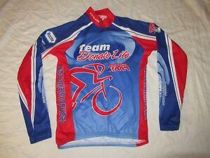 Voler Club Raglan Sponsor Logos Full Zip Bike Cycling Jersey Mens Medium