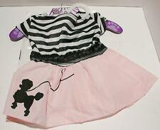 Rubies Pet Shop Fifties Girl Poodle Skirt Dress Up Halloween Pet Dog Cat Costume