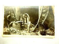 WWI German Machine Gun Nest Real Photo PostCard