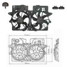 Dual Rad & Cond Fan Assembly Fits: 2001 - 2006 Mazda Tribute V6 3.0L ONLY