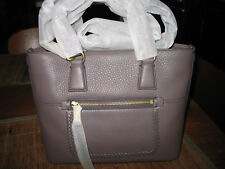 NWT Cole Haan CELIA Small Leather Tote Bag STORM CLOUD