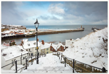 Whitby Canvas And Print In The 199 Steps In The Snow Yorkshire Photography