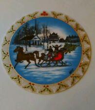 ANNA PERENNA 1992 THE SLEIGHRIDE PORCELAIN CHRISTMAS ORNAMENT BOX & COA  LTD ED