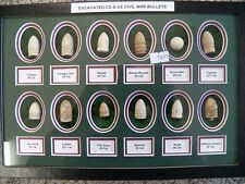 Nice Displayed Collection Of 12 Excavated Civil War Bullets - CS & US