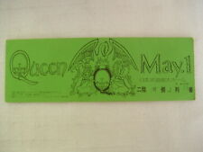 QUEEN LIVE TICKET / 1975 01/MAY JPN FIRST TOUR