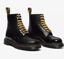 Dr. Martens X Pleasures 1460 Boot Black Smooth Patent Lamper Sz US 13 Uk 12