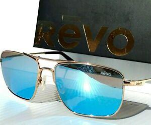 NEW Revo GROUND SPEED Gold POLARIZED Blue water mirror Sunglass 3089 02 BL