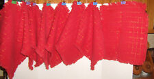 8 VINTAGE RED PLACE MATS WITH GOLD SPARKLE ACCENT    #18
