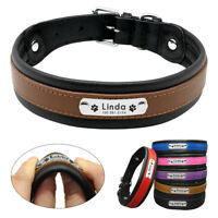 Personalised Dog Collars Soft Padded Large Dogs Collar Custom Dog ID Collars