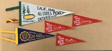 ORIGINAL FELT PENNANTS CALIFORNIA AMERICAN LEGION 40's 50's SOUVENIR LOT OF 5