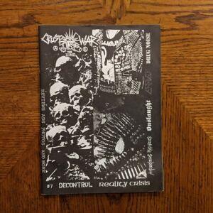 Crust War #7 punk zine Disclose Kawakami Framtid GISM Anti Cimex Discharge