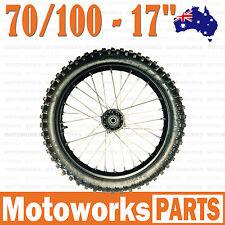 "70/100 - 17"" Inch Knobby Tire & Rim Front wheel BIGFOOT Dirt Pit Trail Por Bike"