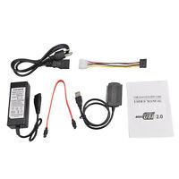 """USB 2.0 to IDE SATA S-ATA 2.5""""/3.5"""" Hard Drive HD HDD Converter Adapter Cable US"""