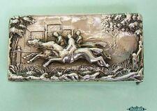 Victorian Sterling Silver Equestrian Vesta Case William Neale Chester 1895