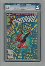 Daredevil #186 CGC 9.0 VF/NM Marvel Comics 9/82 Stilt-Man Frank Miler Cover/Art