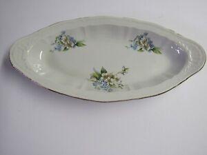 Vintage Soviet Union Porcelain Flowered Serving Bowl